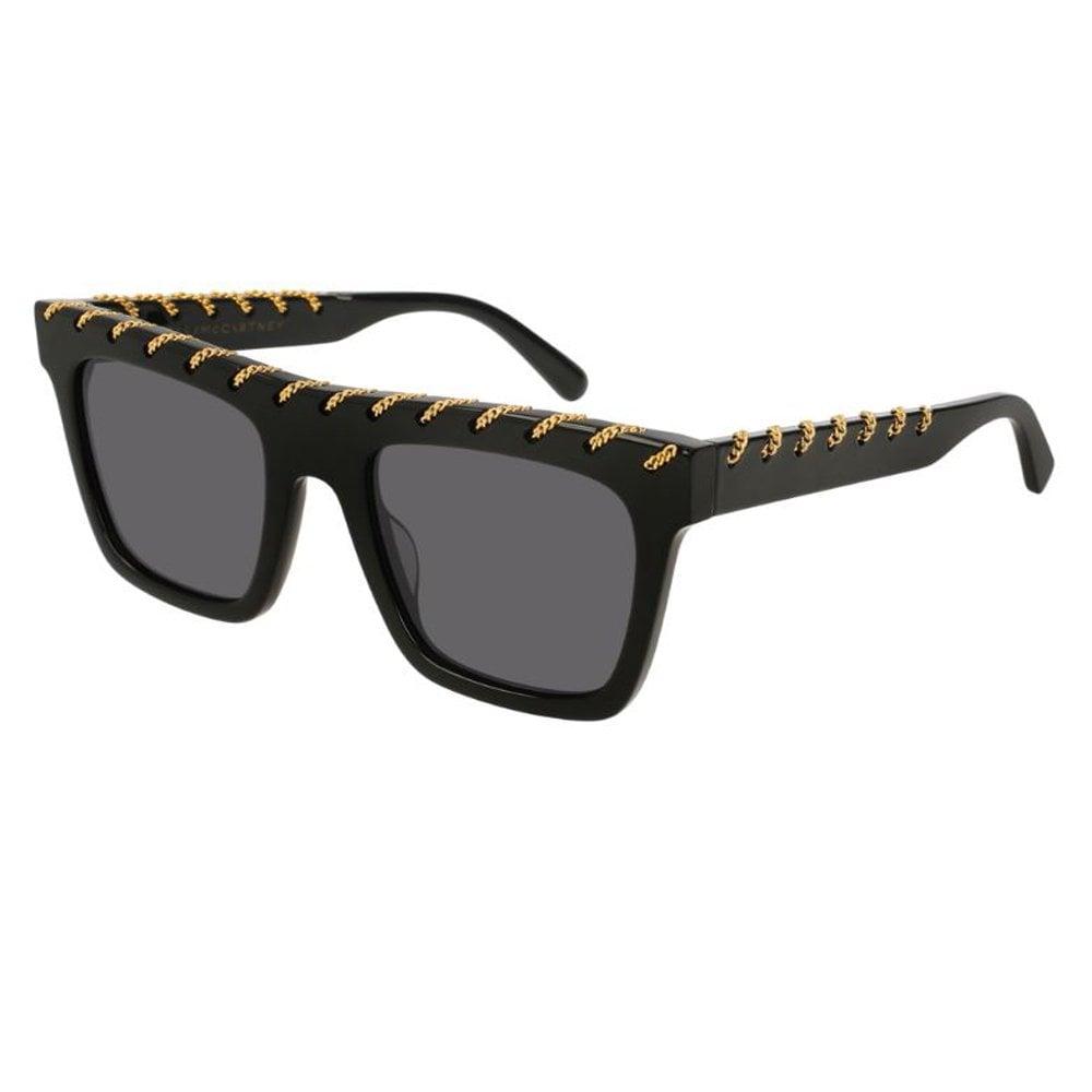 3a5dfe1e22d5 SC0128S 001 51 Falabella Black and Gold Sunglasses