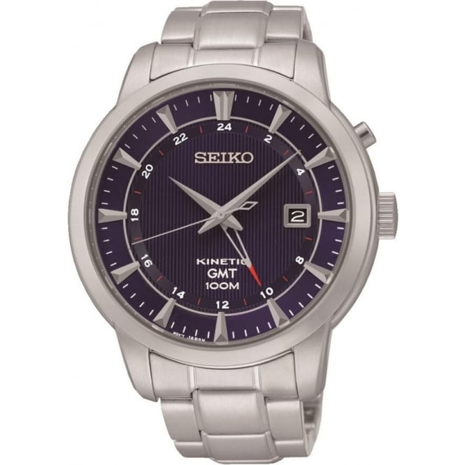 Seiko SUN031P1 Stainless Steel Kinetic Mens Watch