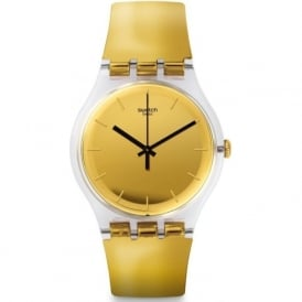 Swatch SUOK120 Goldenall Gold Plastic Watch