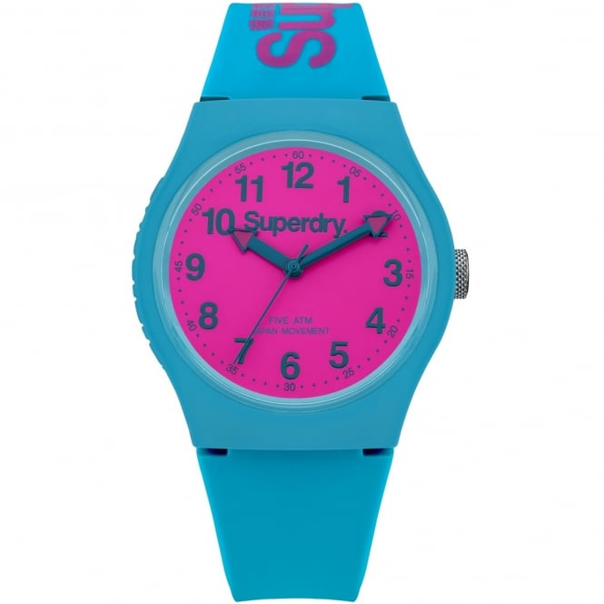 Superdry SYG164AUP Urban Pink & Blue Silicone Watch