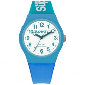 SYG164AUW Urban White & Neon Blue Silicone Watch