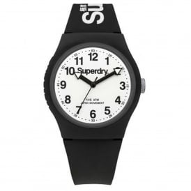 SYG164BW Urban White & Black Silicone Watch