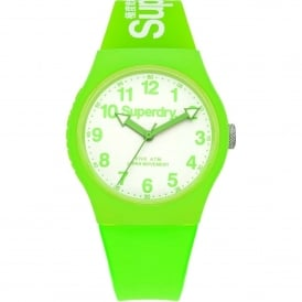 SYG164NW Urban White & Green Silicone Watch