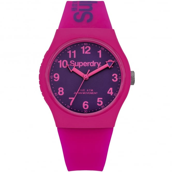 Superdry SYG164PV Urban Purple & Pink Silicone Ladies Watch