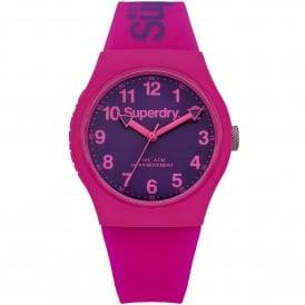 SYG164PV Urban Purple & Pink Silicone Ladies Watch