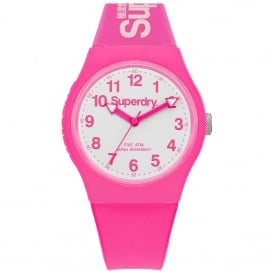 SYG164PW Urban White & Neon Pink Silicone Watch