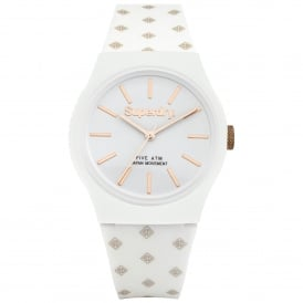 SYG166WRG Urban Micro Rose Gold & White Silicone Watch
