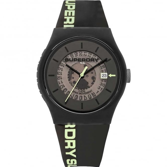 Superdry SYG168B Urban Transparent Black Silicone Watch