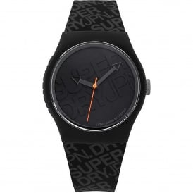 SYG169B Urban Black Silicone Watch