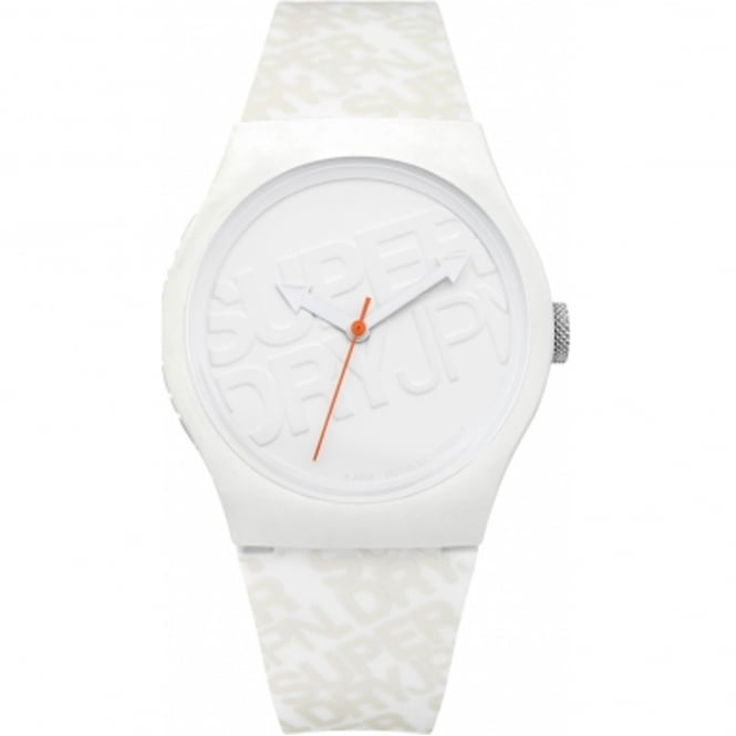 Superdry SYG169W Urban White Silicone Watch