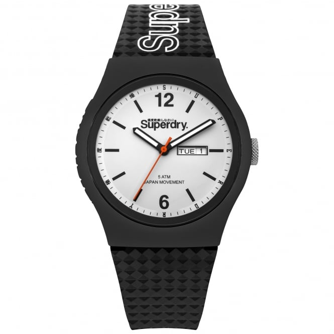 Superdry SYG179WB Urban White & Black Silicone Watch
