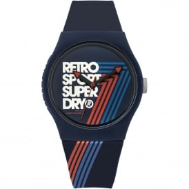 SYG181U Urban Retro Sport Navy Silicone Watch