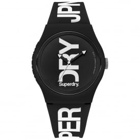 SYG189BW Urban Fluoro White & Black Silicone Watch