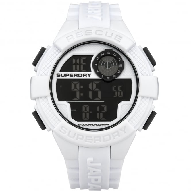 Superdry SYG193W Radar White Rubber Watch