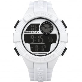 SYG193W Radar White Rubber Watch
