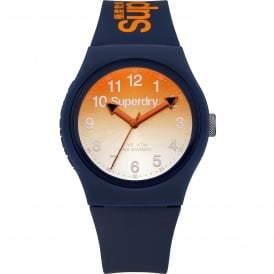SYG198UO Urban Orange & Navy Silicone Watch