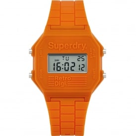 SYG201O Retro Digi Orange Silicone Watch