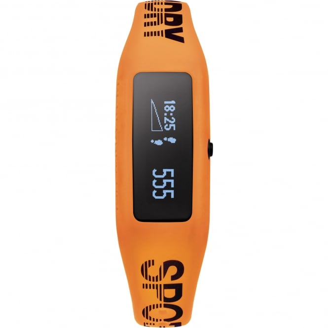 Superdry SYG202O Black & Orange Silicone Fitness Tracker