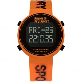 SYG203O Black & Orange Silicone Digi Pedometer