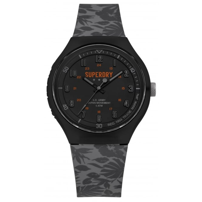 Superdry SYG225E Urban Black & Grey Silicone Watch