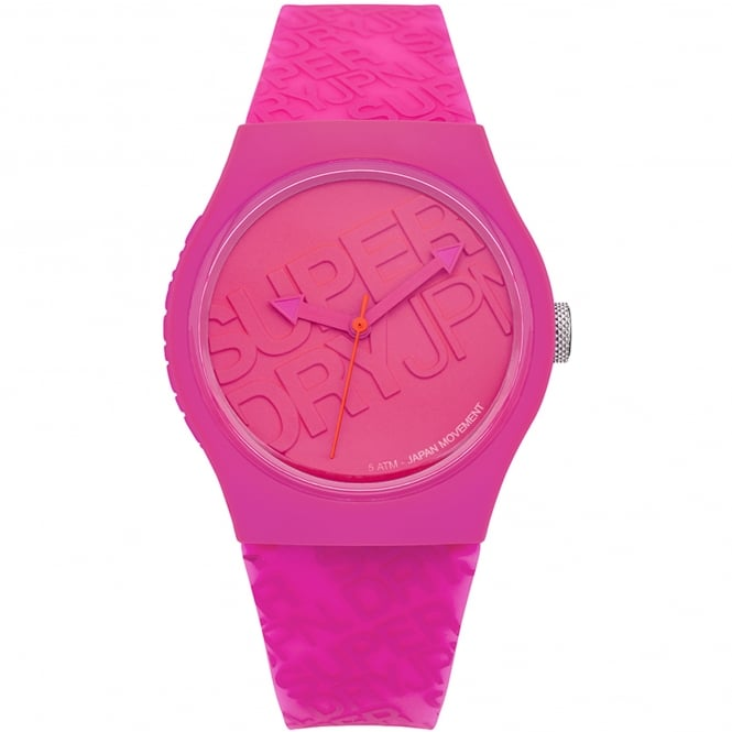 Superdry SYL169P Urban Pink Silicone Ladies Watch