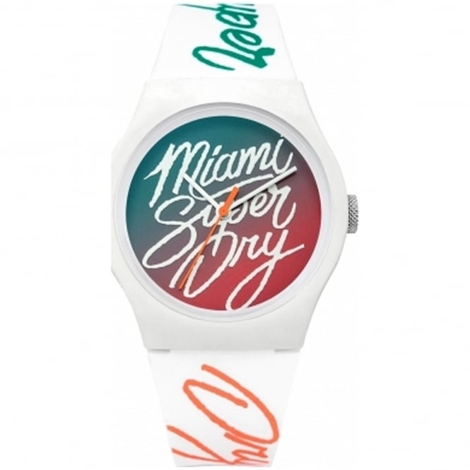 Superdry SYL180WO Urban Ombre White Silicone Watch