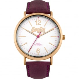 SYL194V Oxford Rose Gold & Purple Leather Ladies Watch