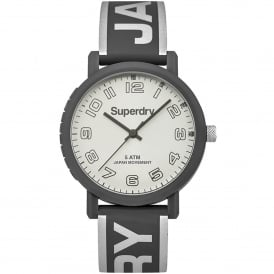 SYL196EE Campus Metallic Silver & Grey Silicone Watch