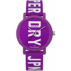 SYL196VW Campus White & Purple Silicone Watch