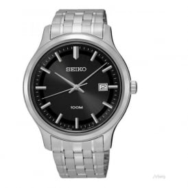 Seiko SUR145P1 Black & Silver Stainless Steel Men's Watch