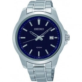 Seiko SUR153P1 Blue & Silver Stainless Steel Men's Watch