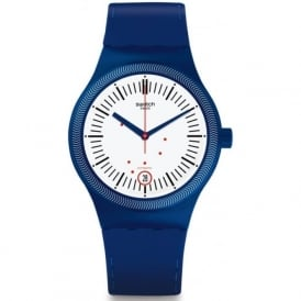Swatch SUTN401 Sistem Grid Blue & White Automatic Silicone Watch