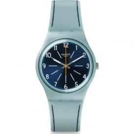 Swatch GM184 Blue Stitches Blue Silicone Watch
