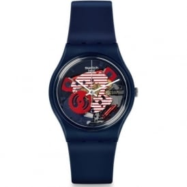GN239 Swatch Porticciolo Blue Exposed Silicon Watch