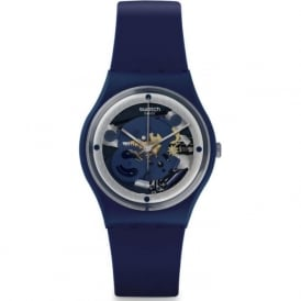 Swatch GN245 Squelette Blue Exposed Silicone Watch