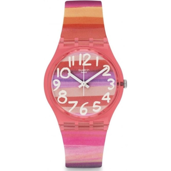 Swatch GP140 Swatch Astible Gloss Plastic Watch