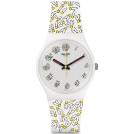 Swatch GW174 Pick Me White & Yellow Silicone Watch