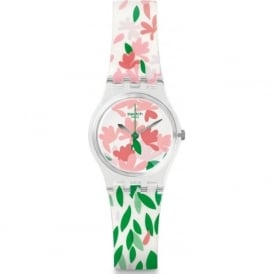 Swatch LK355 Jackaranda White & Floral Plastic Watch