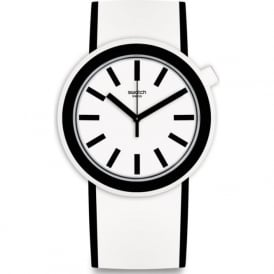 Swatch PNW100 Popmoving White & Black Silicone Watch