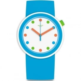 Swatch PNW102 Popping Pop Blue & Multi Coloured Watch