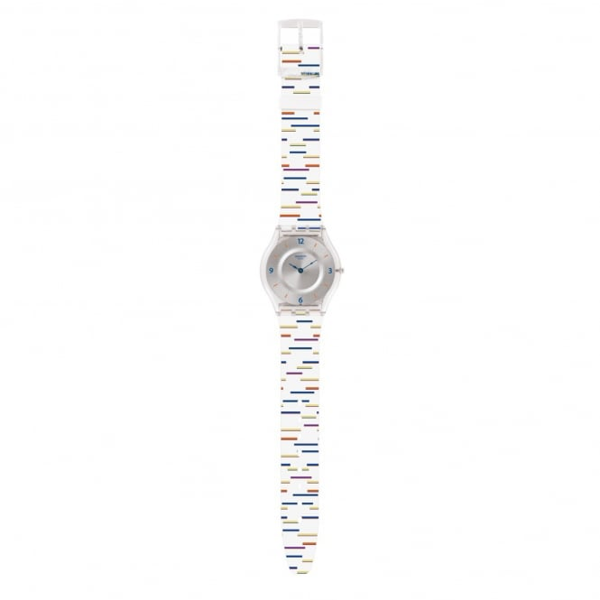 Swatch SFE108 Thin Liner Multicolored Silicone Skin Watch