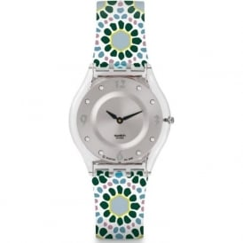 Swatch SFK327 Botanical Bomb Green & Yellow Silicone Skin Watch