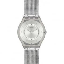 Swatch SFM118M Skin Silver Metal Knit Watch