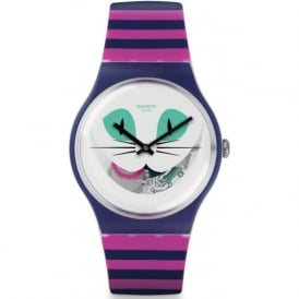 Swatch SUOW125 Cat Me Up Purple & Pink Silicone Watch