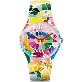 Swatch SUOW126 Flowerfool Multi Colour Silicone Watch