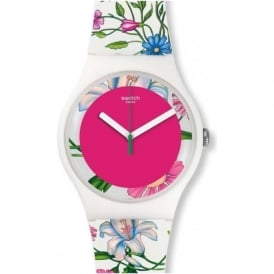 Swatch SUOW127 Fiorinella White Silicone Watch