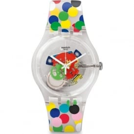 Swatch SUOZ213 Spot The Dot Multicolour Exposed Silicone Watch