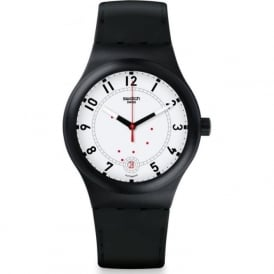 Swatch SUTB402 Sistem 51 Sistem Chic Black & White Automatic Watch