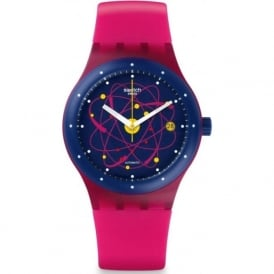 Swatch SUTR401 Sistem 51 Sistem Pink Silicon & Plastic Automatic Watch