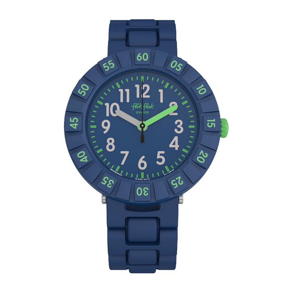 Flik Flak FCSP086 Solo Dark Blue Watch available at Tic Watches 430e88c712e
